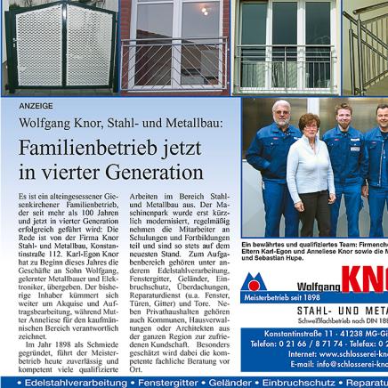 Familienbetrieb Wolfgang Knor - Mönchengladbach