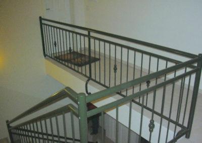 Treppengeländer mit Pulverbeschichtung