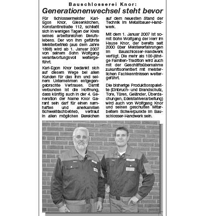 Generationswechsel - Schlosserei Knor Mönchengladbach