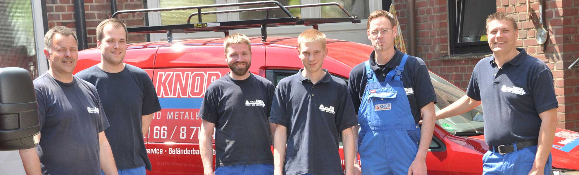 Team von Bauschlosserei Wolfgang Knor aus Mönchengladbach